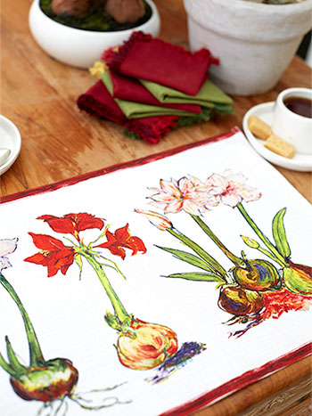 Amaryllis Placemat Set of 4