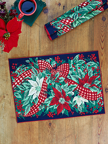 Christmas Cottage Placemat Set of 4