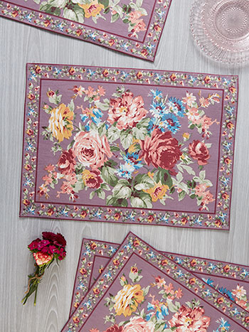 Cottage Rose Placemat Set of 4