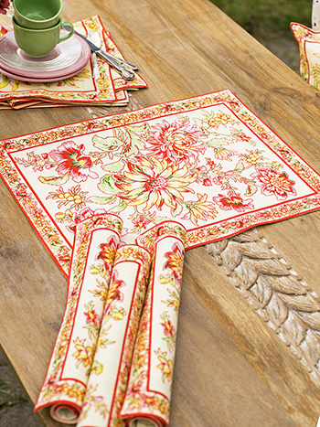 Dahlia Days Placemats Set of 4