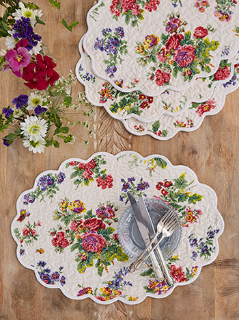 Artist Garden Quilted Placemat Set of 4