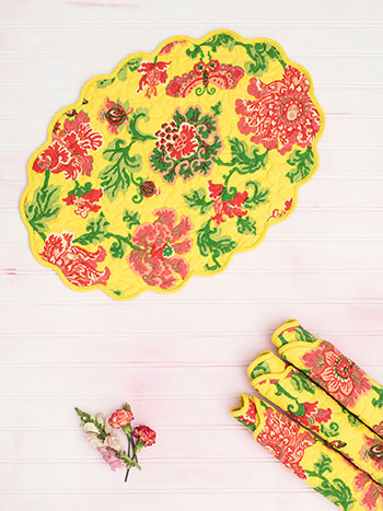 Ming Quilted Placemat Set of 4