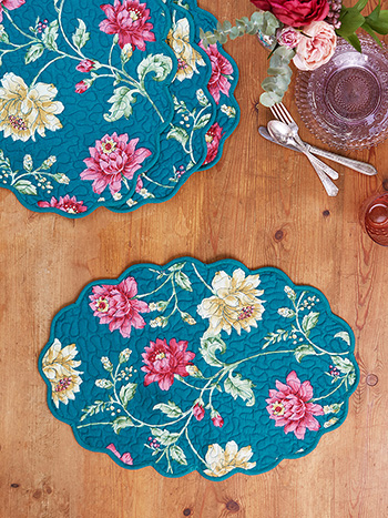 Rosehip Quilted Mat Set of 4
