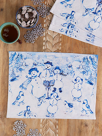 Snowman Placemat Set of 4