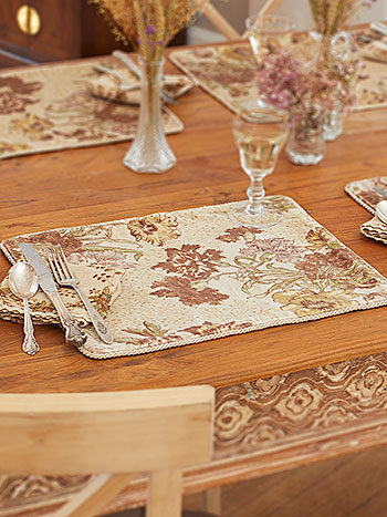 Jaipur Garden Velvet Single Placemat