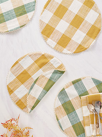 Cottage Check Placemat Set of 4