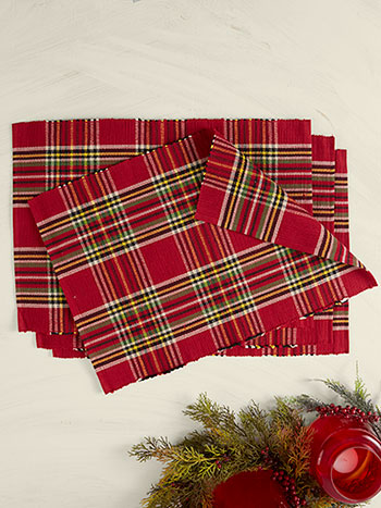 Fireside Tartan Plaid Placemat Set of 4