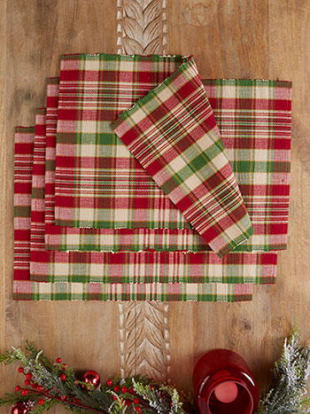 Yuletide Plaid Placemat Set of 4