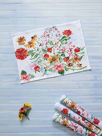 Zinnia Bouquet Placemat Set of 4