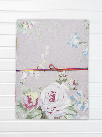 Large Notebook - Cottage Rose