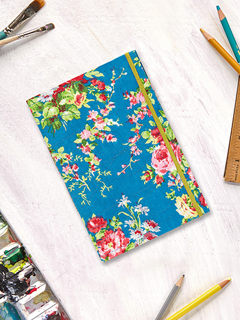 Cottage Rose Plain Notebook