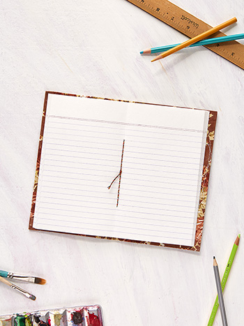 Cottage Rose Ruled Notebook