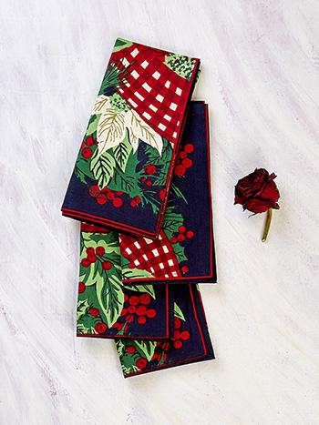 Christmas Cottage Napkin Set of 4