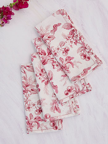 Cherry Blossom Napkin Set of 4