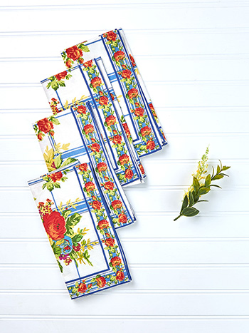 Cornwall Cottage Napkin Set of 4