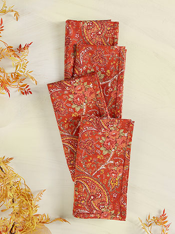 Garden Paisley Napkin Set of 4