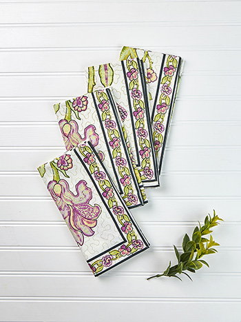 Jacobean Garden Napkin Set of 4
