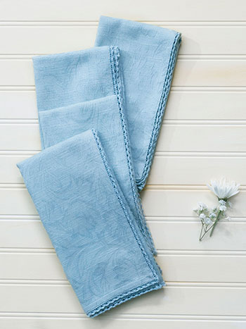 Luxurious Linen Jacquard Napkin Set of 4 - Mist