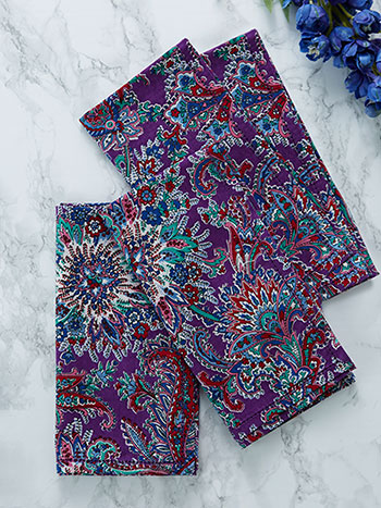 Rhapsody Paisley Napkin Set of 4