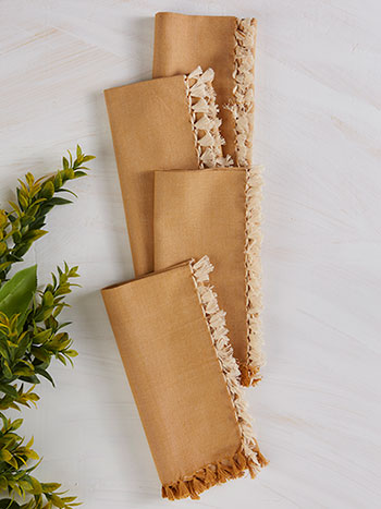 Chambray Napkin Set of 4 - Gold