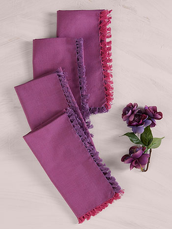 Chambray Napkin Set of 4 - Plum