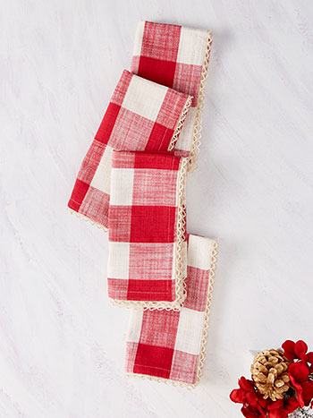 Cottage Check Napkin Set of 4