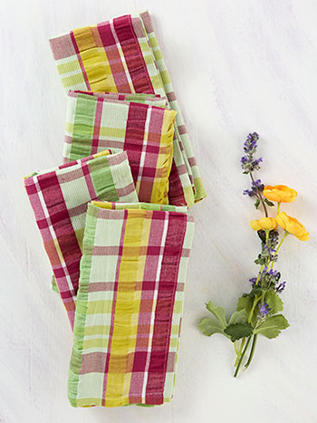 Garden Seersucker Napkin Set of 4