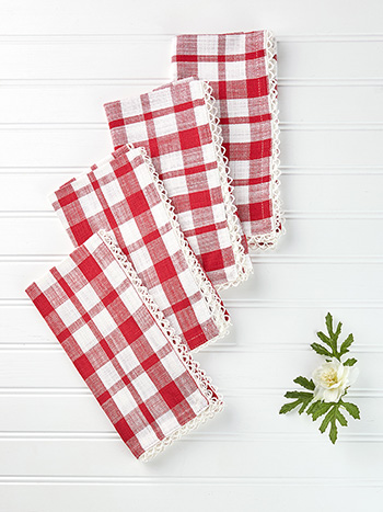 Strawberry Napkin Set of 4