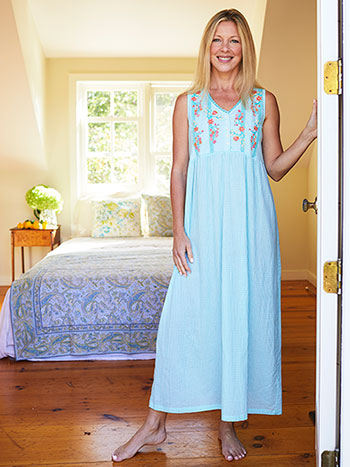 Katie's Meadow Gingham Nighty