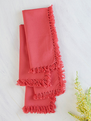 Essential Napkin Set of 4 - Coral