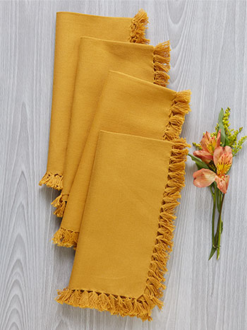 Essential Napkin Set of 4 - Gold