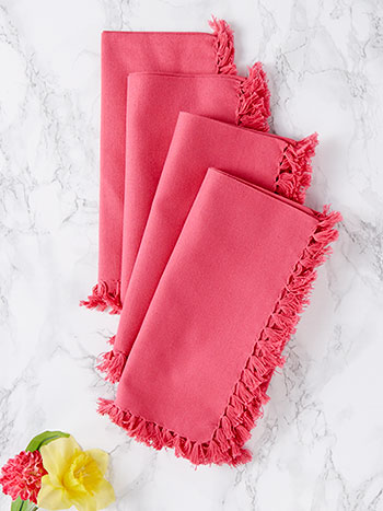 Essential Napkin Set of 4 - Pink