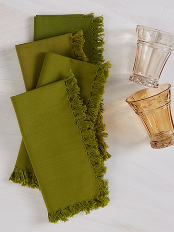 Essential Napkin Set of 4 - Olive