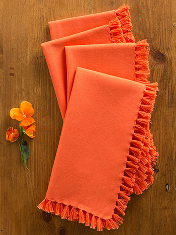 Essential Napkin Set of 4 - Orange