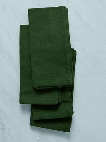 Hemmed Essential Napkin Set of 4 - Dark Green