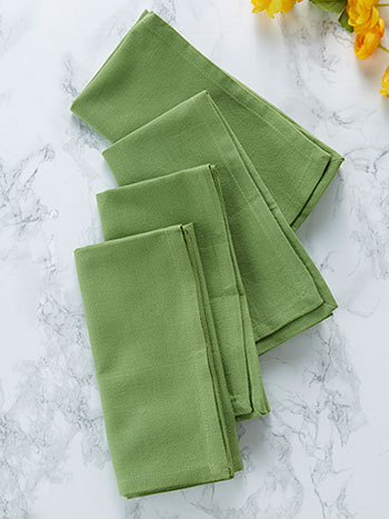 Hemmed Essential Napkin Set of 4 - Green