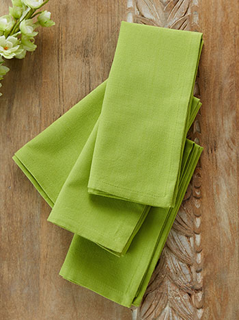 Hemmed Essential Napkin Set of 4 - Light Green