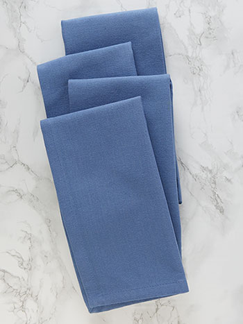 Hemmed Essential Napkin Set of 4 - Periwinkle