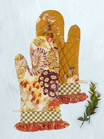 Autumn Patchwork Oven Mitt