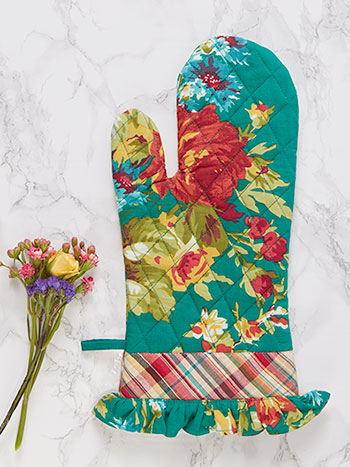 Cottage Rose Oven Mitt