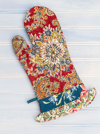 Everyday Patchwork Oven Mitt