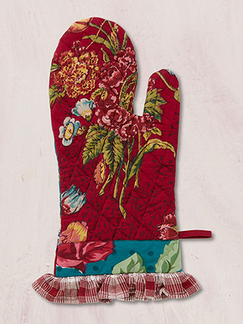 Jewel Patchwork Oven Mitt