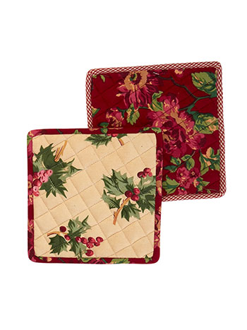 Christmas Patchwork Potholder Set of 2