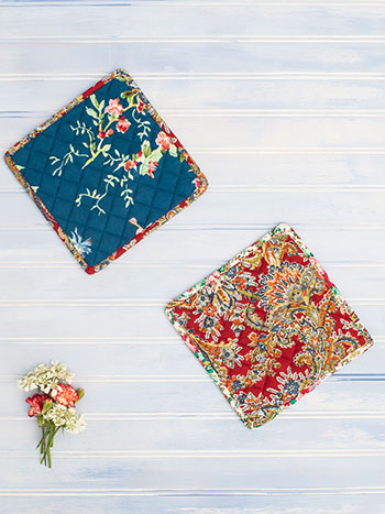 Everyday Patchwork Potholder Set of 2