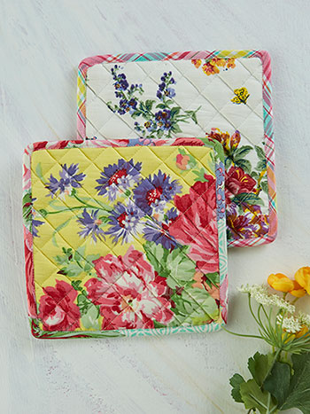 Garden Patchwork Potholder Set of 2