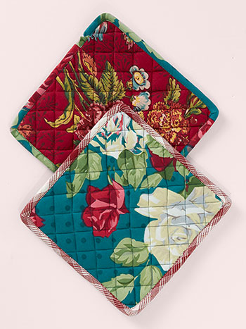 Jewel Patchwork Potholder S/2