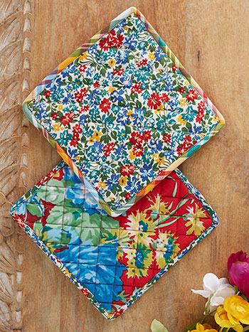 Primary Patchwork Potholder Set of 2