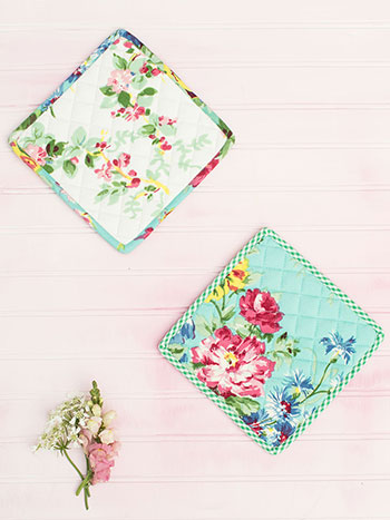 Printemps Patchwork Potholder Set of 2