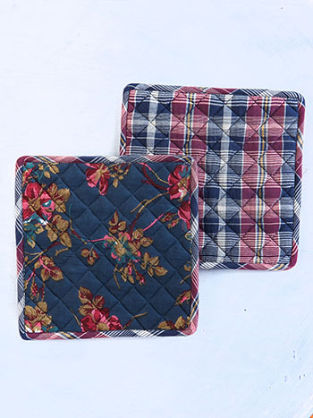 Wild Rose Potholder Set of 2