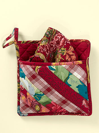 Jewel Patchwork Pocket Potholder